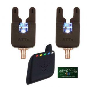 Gardner ATTs Underlit Wheel Bite Alarms x 2 + V2 ATTx Deluxe  Receiver