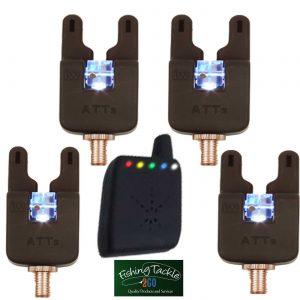 Gardner ATTs Underlit Wheel Bite Alarms x 4 + V2 ATTx Deluxe Receiver