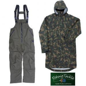 Fox 10K Hydro Camo Jacket + Khaki Salopettes