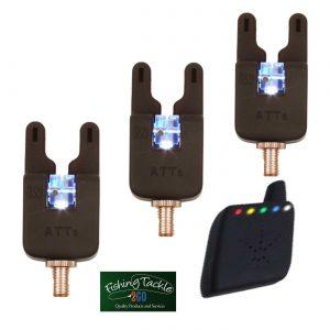 Gardner ATTs Underlit Wheel Bite Alarms x 3 + V2 ATTx Deluxe  Receiver