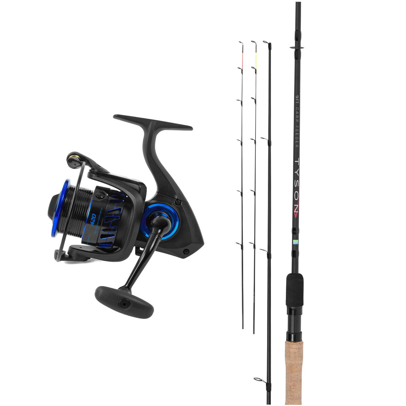 Preston Innovations Tyson Carp Feeder Rod + Inertia Reel Combo