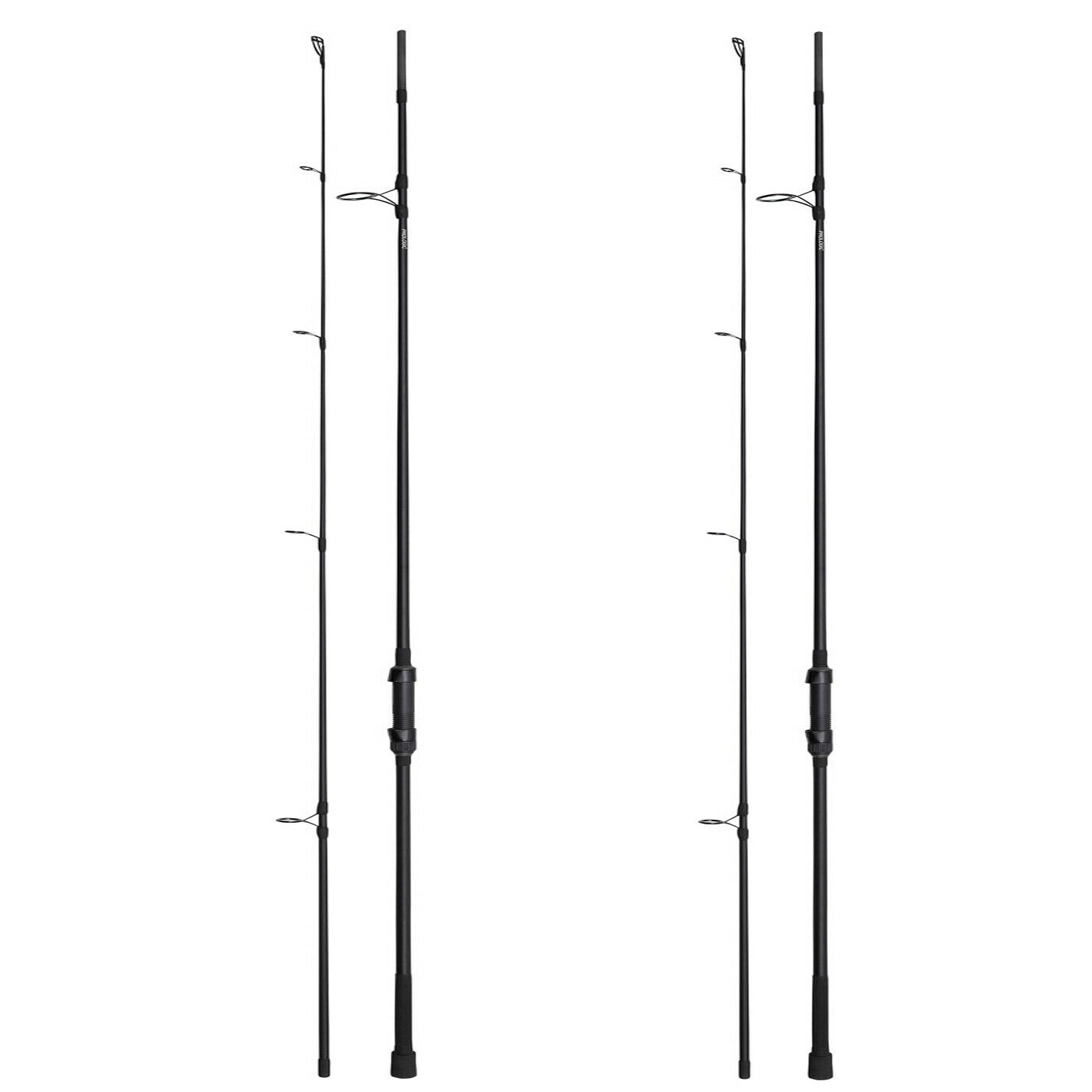 Prologic Custom Black 12ft 3lb 50mm Carp Rod -Set of 2-