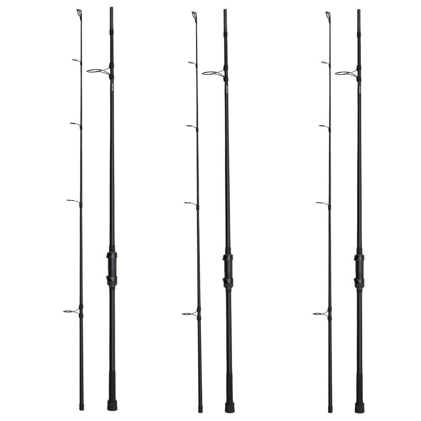 Prologic Custom Black 12ft 3lb 50mm Carp Rod -Set of 3-