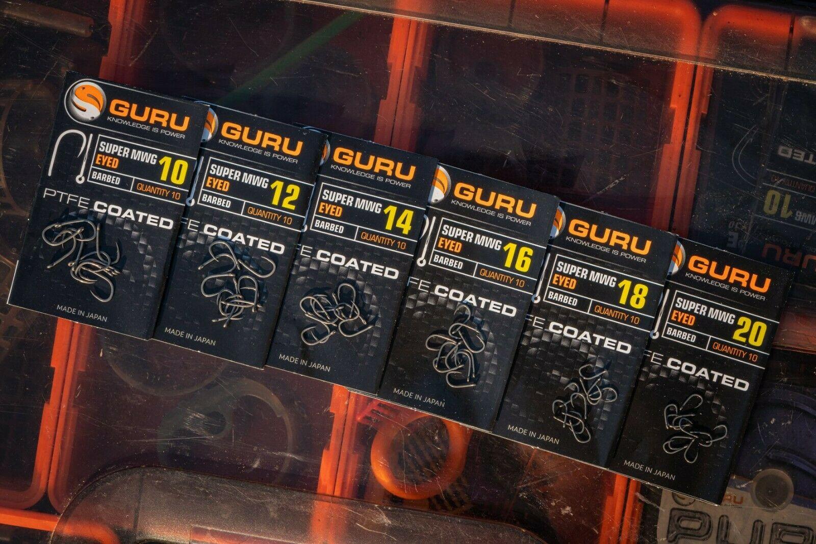 Free Delivery Guru Super LWG Eyed Hooks x3 Packs *New*